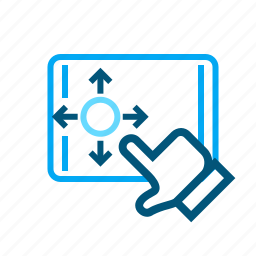 control, direct, move, tablet, usability icon