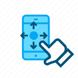 direct, focus, mobile, move, user interface icon