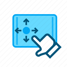 direct, focus, ipad, move, tablet, usability, user interface icon