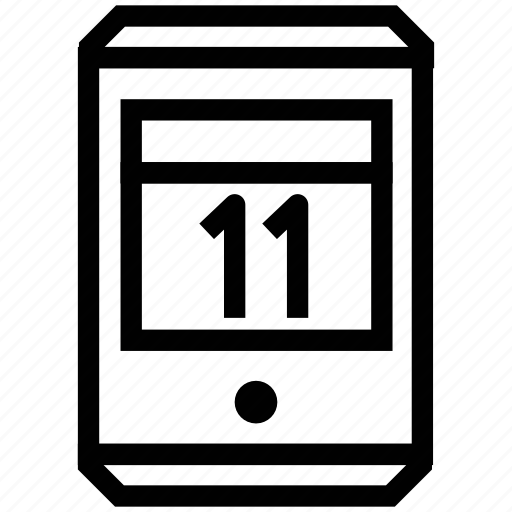 display eleven, mobile, smartphone, tablet icon