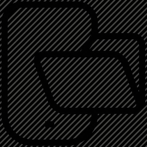 data storage, folder, mobile, service icon