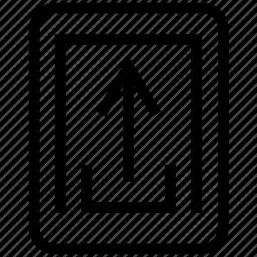 mobile, service, upload, uploading icon