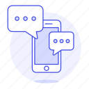 chat, chatting, message, mobile, phone, smartphone, text, texting icon