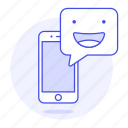 chat, emoji, message, mobile, phone, smartphone, text, texting icon