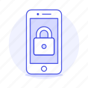 lock, locked, mobile, phone, security, smartphone icon