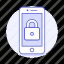 lock, locked, mobile, phone, security, smartphone