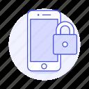 locked, security, lock, phone, smartphone, mobile