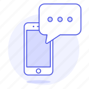 chat, message, mobile, phone, smartphone, text, texting icon