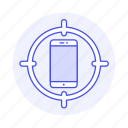 aim, connectivity, mobile, network, phone, smartphone, target icon