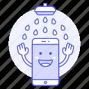 certification, features, ip, mobile, phone, smartfhone, waterproof icon