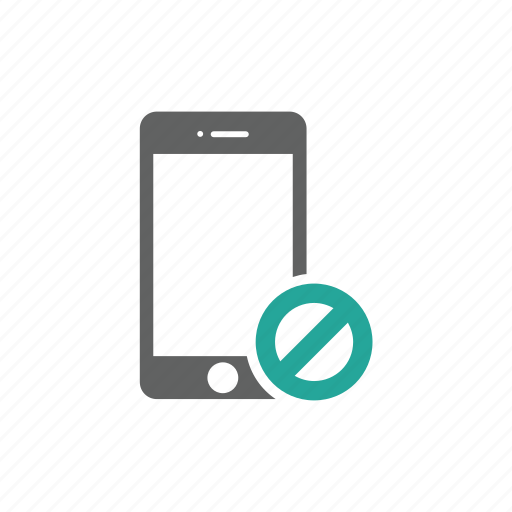 error, iphone, mobile, phone, prohibit, warning icon