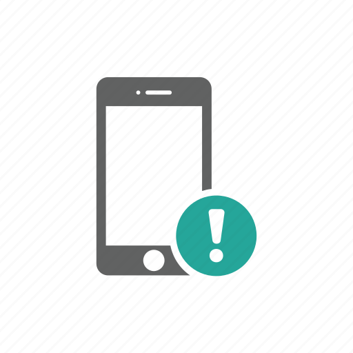 error, exclamation mark, iphone, mobile, phone, warning icon