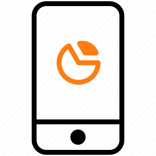 chart, device, gadget, mobile, phone icon
