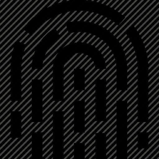 finger, hand, identity, print icon