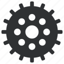 cogwheels, gear, interlink, interlocked, mechanics, tool, tools, wheels icon