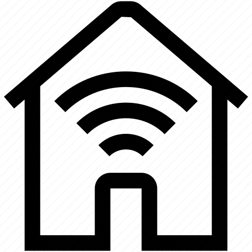 home, house, mobile, network, phone, wi-fi, wireless icon