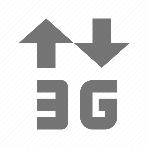 3g, arrows, signal icon