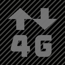 4g, arrows, signal icon