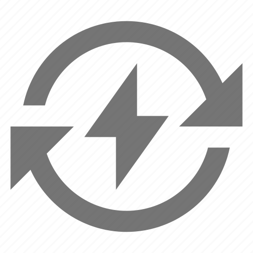 arrows, charging, flash, refresh, reload, sync icon