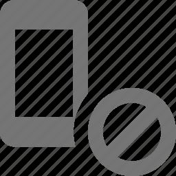 block, phone, smartphone, stop, telephone icon