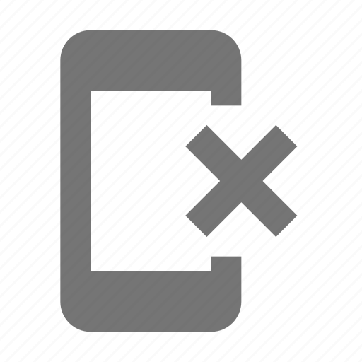 close, delete, phone, smartphone, telephone icon