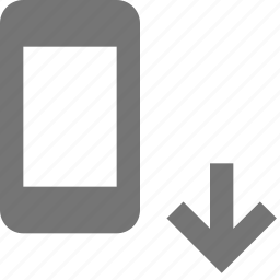 arrow, down, download, phone, smartphone icon