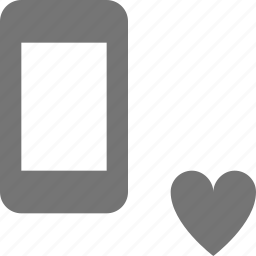 favorite, heart, like, phone, smartphone, telephone icon