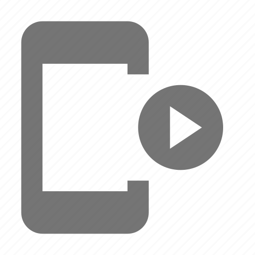 movie, phone, play, smartphone, telephone, video icon