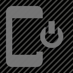 phone, power, smartphone, telephone icon