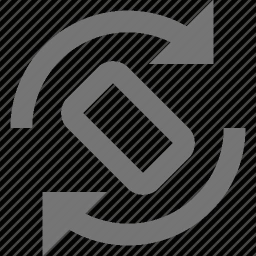 arrows, phone, rotate, smartphone, telephone icon