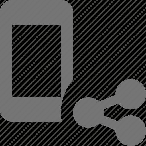 phone, share, smartphone, telephone icon