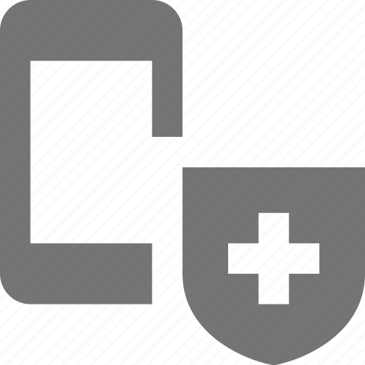 phone, security, shield, smartphone, telephone icon