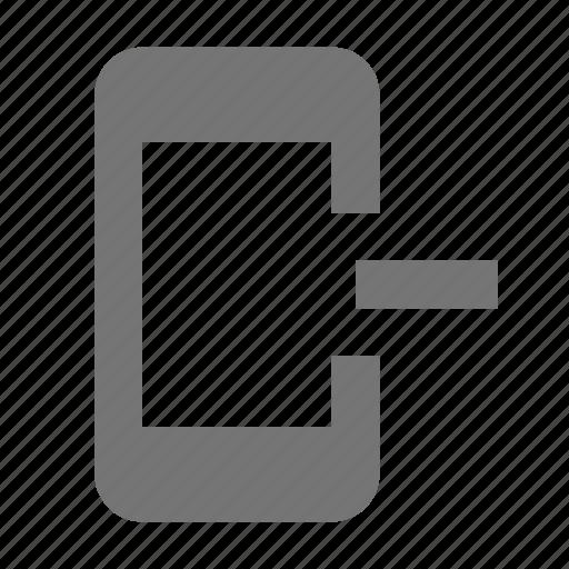 minimize, minus, phone, remove, smartphone, telephone icon