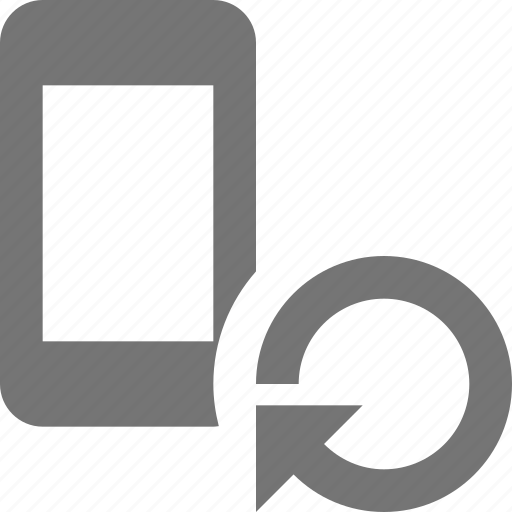 arrow, phone, refresh, reload, smartphone, sync, telephone icon