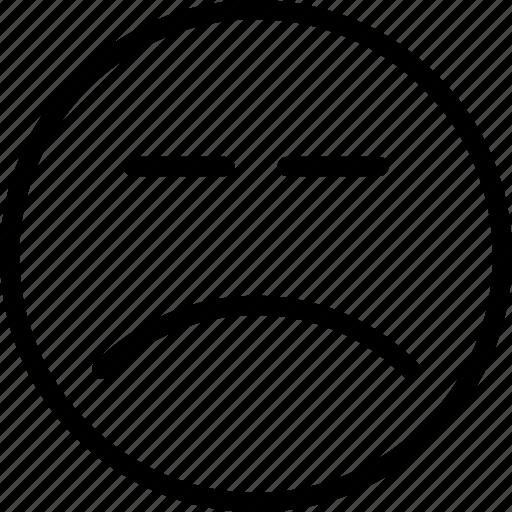 emotion, face, sad, smiley icon