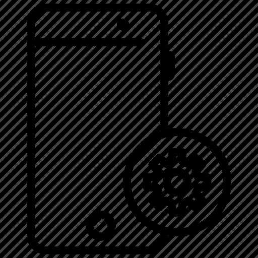 mobile, mobile application, mobile phone, mobile settings, profile settings icon