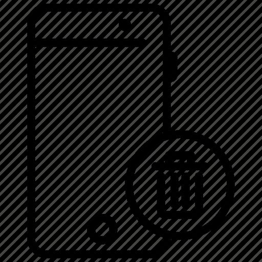 delete photo, mobile, mobile application, mobile delete, mobile phone icon