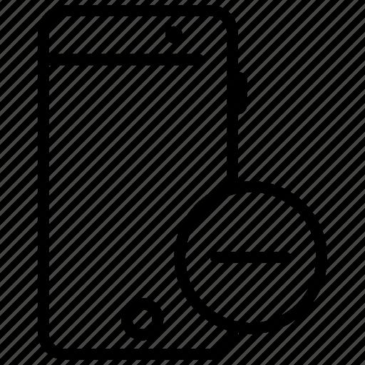 mobile, mobile application, mobile phone, remove app, remove data icon