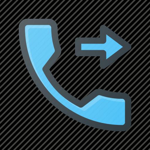 call, forward, phone, telephone icon