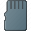 card, memory, micro, sd icon