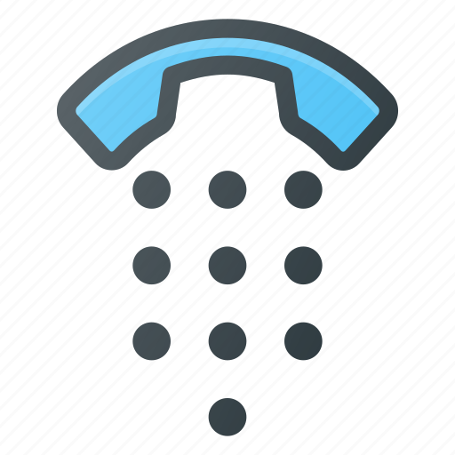 dial, keyboard, numerick, pad, touch icon