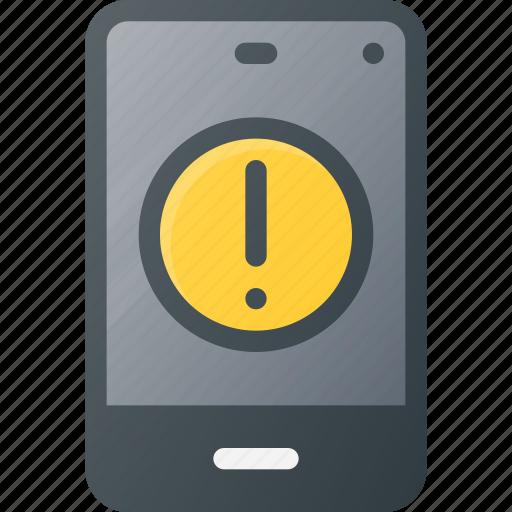 allert, mobile, phone, smart, smartphone icon