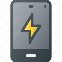 charge, mobile, phone, smart, smartphone icon