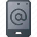 mail, message, mobile, phone, smart, smartphone icon