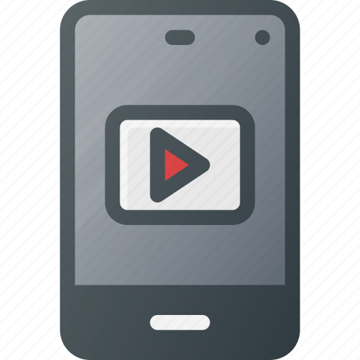 media, mobile, phone, play, player, smart, smartphone icon