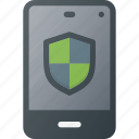 mobile, phone, protect, smart, smartphone icon