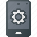mobile, phone, settings, smart, smartphone icon