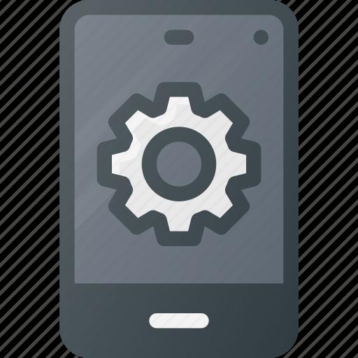 mobile, phone, settings, smart, smartphone icon