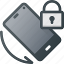 lock, phone, rotate, rotation, screen, telephone icon