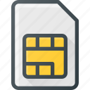 card, communication, mobile, phone, sim icon
